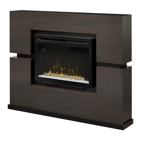 Dimplex Linwood 65-Inch Mantel Electric Fireplace - Multi-Fire XD Flame - Rift Gray - Acrylic Ice Embers - GDS33HG-1310RG