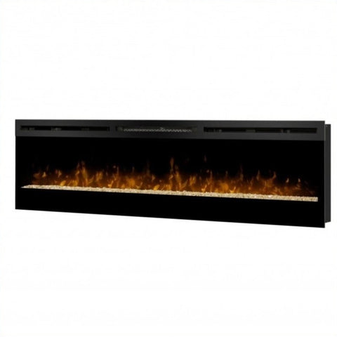 "Dimplex Galveston 74"" Wall Mount Electric Fireplace with Glass Ember Bed - BLF74"