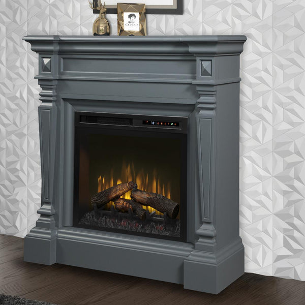Dimplex Heather 50-Inch Mantel Electric Fireplace - Wedgewood Gray - Realogs - GDS28L8-1941WE