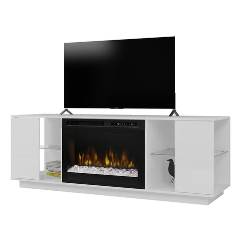 Dimplex Flex Lex Media Console Electric Fireplace with Glass Ember Bed - GDS26G8-1652W