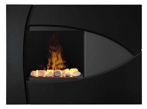 Dimplex Brayden Wall-Mount Electric Fireplace With White Rocks - BBK20R