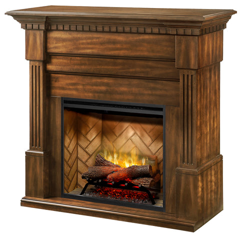 Dimplex Christina BuiltRite Modular 50-Inch Electric Fireplace & Mantel - Burnished Walnut - GDS30RBF-1801BW