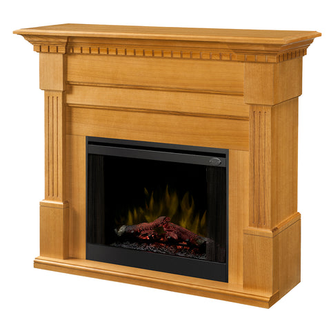 Dimplex Christina 56-Inch BuiltRite Fireplace Mantel - Rift Oak(Mantel Only) - BM3033-1801RO