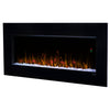 Dimplex Nicole 43-Inch Wall-Mount Electric Fireplace - Acrylic Ice Embers - Black - DWF3651B