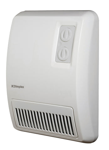 Dimplex Fan-Forced Deluxe Wall-Mounted Bathroom Hand Dryer 1500/2000W, 208/240V, White - EF12