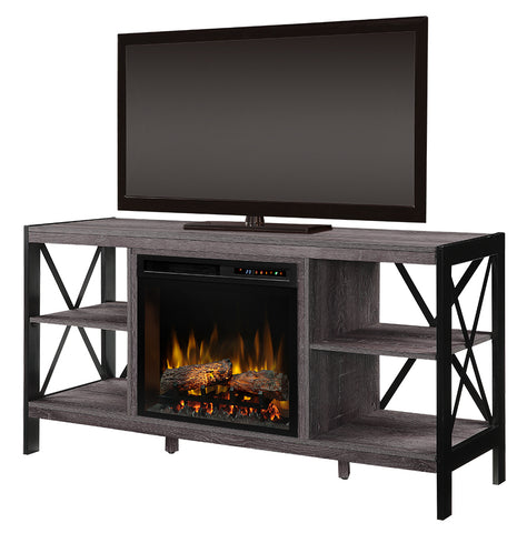 Dimplex Ramona 55-Inch Media Console Electric Fireplace - Logs - Autumn Bronze - GDS23L8-1974AU