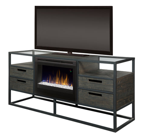 Dimplex Ivan Media Console Electric Fireplace (Acrylic Ice) - GDS25GD-4034NB