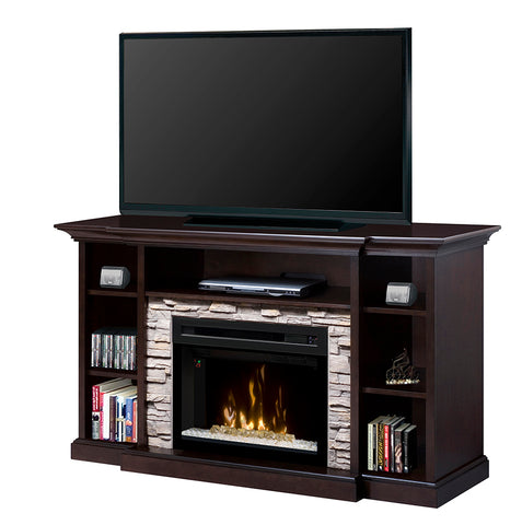 Dimplex Courtyard Media Console Electric Fireplace with Acrylic Ember Bed - GDS25HG-1252E