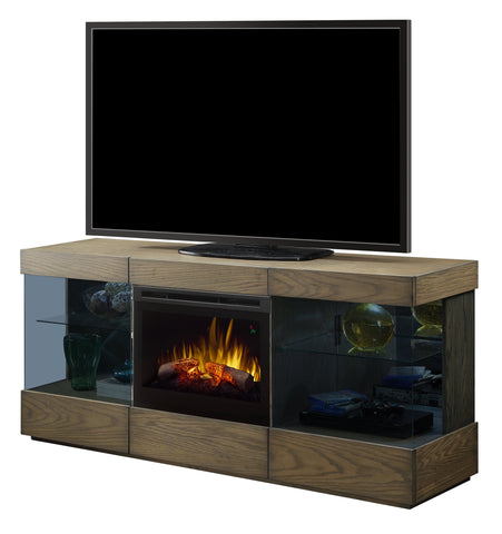 Dimplex Axel 72-Inch TV Media Console Electric Fireplace - Raked Sand - Realogs - GDS25LD-1583RS