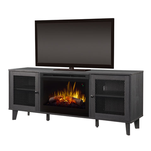 Dimplex Dean 65-Inch TV Media Console Electric Fireplace - Wrought Iron - Realogs- GDS25L5-1909WI