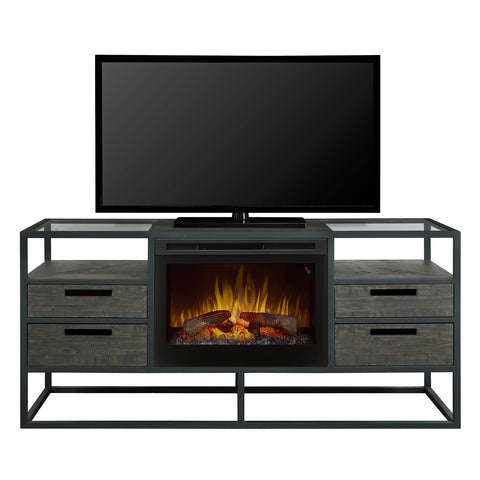 Dimplex Ivan 58 Inch Wide Media Console Fireplace with 5118 BTU - GDS25LD-4034NB