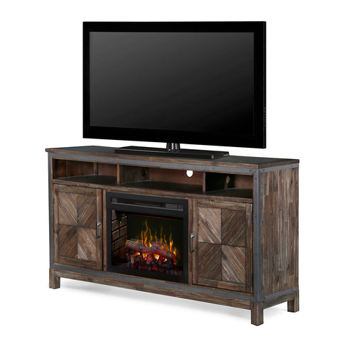 Dimplex GDS25LD-1589BY Wyatt 64 Inch Wide with 5118 BTU Free Standing Media Console Electric Fireplace