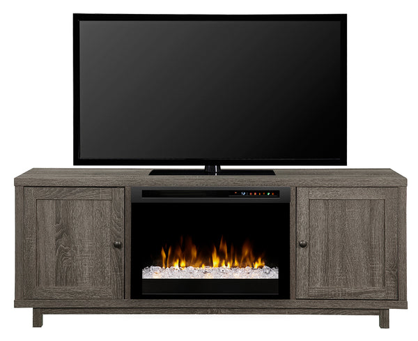 Dimplex Jesse 65-Inch TV Media Console Electric Fireplace - Iron Mountain Finish - Acrylic Ice Embers - GDS26G8-1908IM
