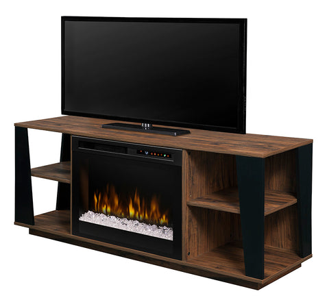 Dimplex Arlo Media Console Electric Fireplace With Glass Ember Bed - GDS26G8-1918TW