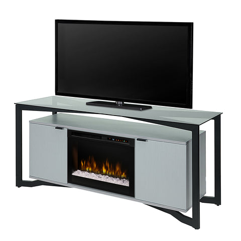 "Dimplex Christian 70"" Fireplace TV Stand in Silver Wave - GDS26G8-1846SW"