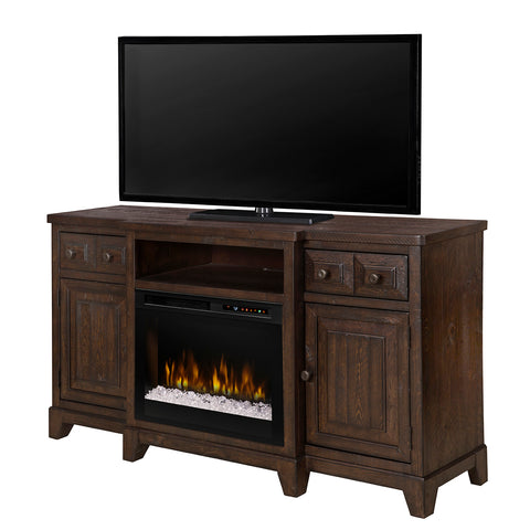 Dimplex Heinrich (with Diamond-Like Acrylic Ember Bed) - Media Console in Wentworth Brown Finish - GDS26G8-1863WR