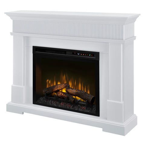 Dimplex Jean Mantel Electric Fireplace with Logs - GDS28L8-1802W