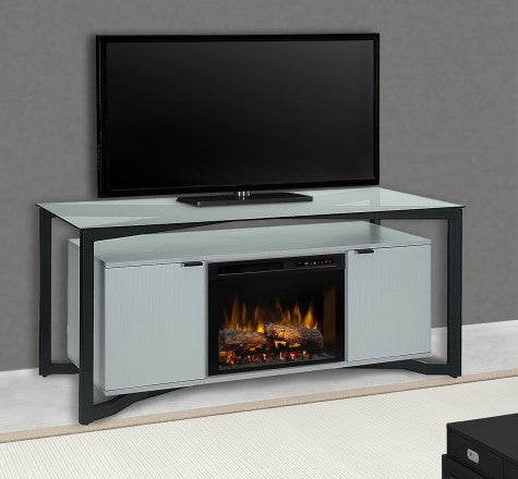 Dimplex 70 Inch Christian Media Console Electric Fireplace With Logs - Electric