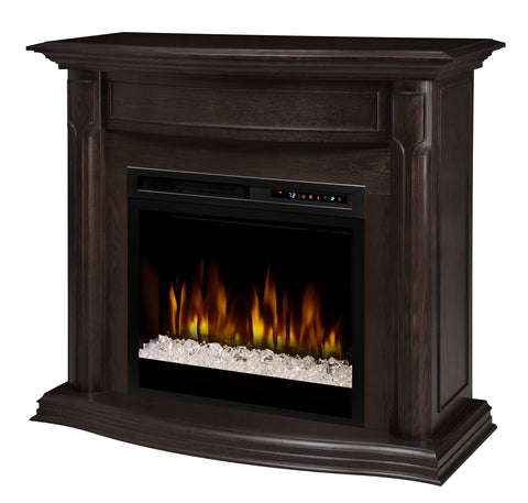 Dimplex Gwendolyn 47-3/4 in. Freestanding Electric Mantel in Espresso with Glass Ember Flames - GDS28G8-1804ES
