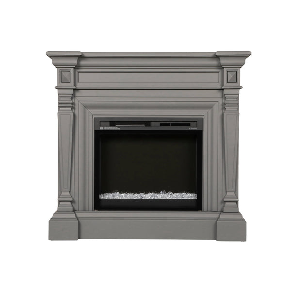 Dimplex Heather 50-Inch Mantel Electric Fireplace - Wedgewood Gray - Acrylic Ice Embers - GDS28G8-1941WE