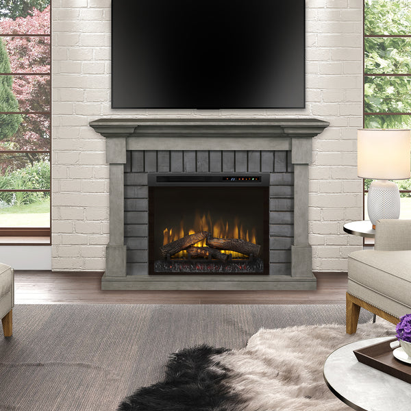 Dimplex Royce 52-Inch Mantel Electric Fireplace - Smoke Stack - Realogs - GDS28L8-1924SK