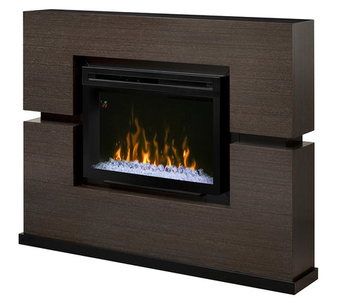 Dimplex Linwood 65-Inch Mantel Electric Fireplace - Multi-Fire XD Flame - Rift Gray - Realogs - GDS33-1310RG