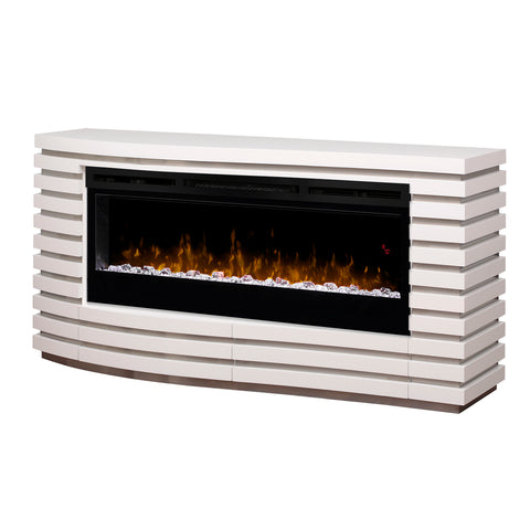 Dimplex Elliot 70-Inch Mantel Electric Fireplace - White - Acrylic Ice Embers - GDS50G5-1587W