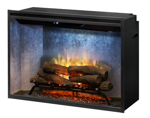 "Dimplex 36"" Revillusion Built-in Electric Firebox with Logs - RBF36WC"
