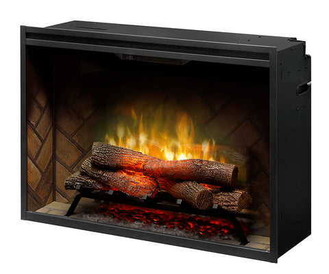 "Dimplex 36"" Revillusion Built-in Electric Firebox with Logs - RBF36"
