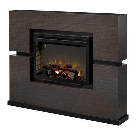 Dimplex Linwood Multi-Fire XD 65-Inch Electric Fireplace & Mantel - Realogs - Rift Grey- GDS33HL-1310RG