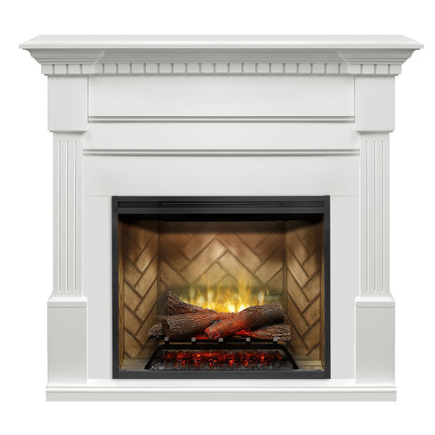 Dimplex Christina Electric Fireplace Mantel, White - GDS30RBF-1801W