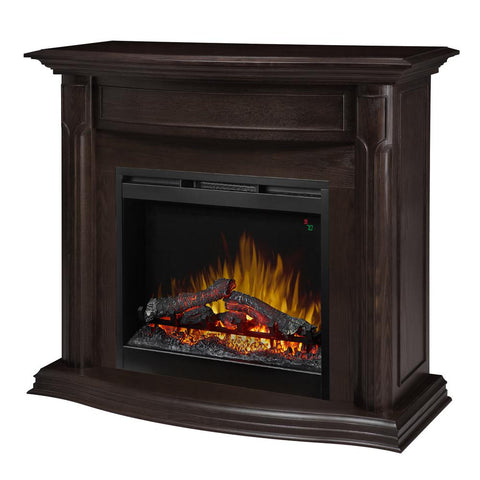 Dimplex Gwendolyn 47-3/4 in. Freestanding Electric Mantel in Espresso with Logs - GDS28L8-1804ES