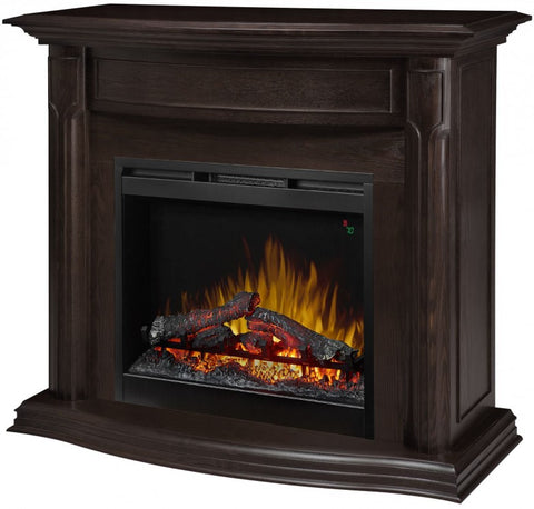 Dimplex Gwendolyn Espresso Mantel with Logs Firebox - GDS26L5-1804ES
