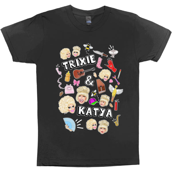 T-SHIRTS - UNHHHH TRIXYA COLLAGE T-SHIRT