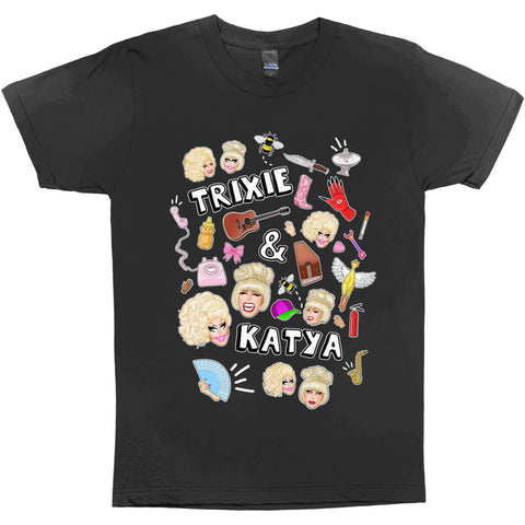 "UK LISTING - KATYA ""BEAU KAUFMAN ILLUSTRATION"" T-Shirt Dress"