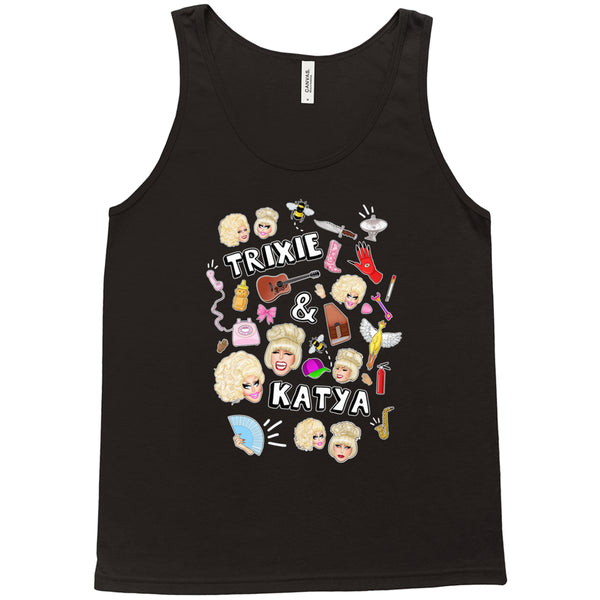 TANK TOPS - UNHHHH TRIXYA COLLAGE TANK TOP