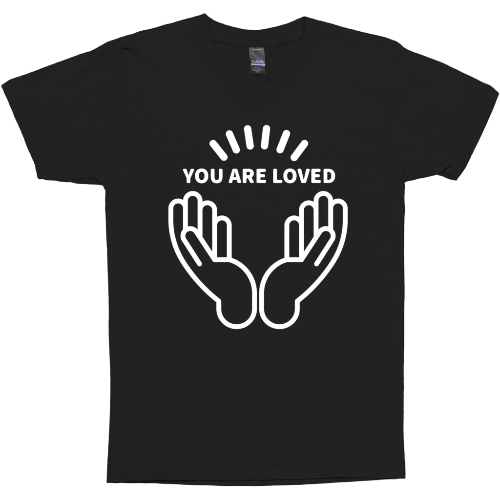 "T-SHIRTS - PROJECT CONTRAST ""YOU ARE LOVED"" T-SHIRT (BLACK)"