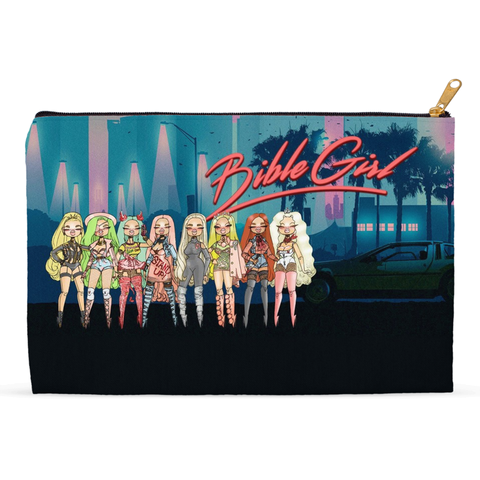 BIBLEGIRL COLLAGE (UK DRAG WORLD 18) Sublimated Blanket