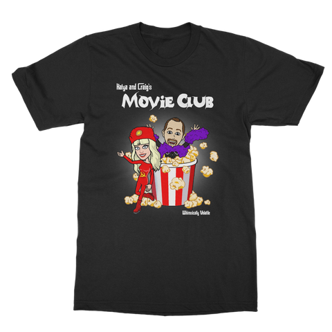 "WHIMSICALLY VOLATILE ""MOVIE CLUB"" T-SHIRT (BLACK)"