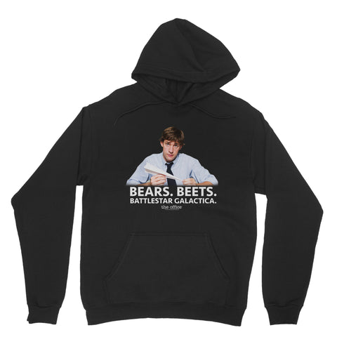 "THE OFFICE ""BEAR BEETS BATTLESTAR GALACTICA"" Classic Adult Hoodie"