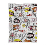 BLANKETS - BIBLEGIRL COLLAGE (UK DRAG WORLD 18) Sublimated Blanket