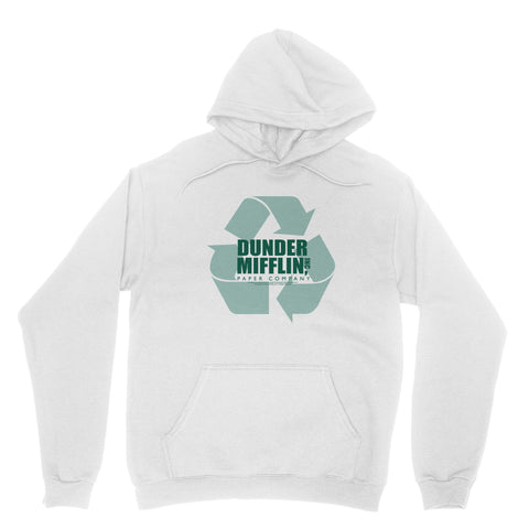"THE OFFICE ""DUNDER MIFFLIN RECYCLE LOGO"" Classic Adult Hoodie"