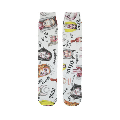 SOCKS - BIBLEGIRL COLLAGE Sublimation Tube Sock