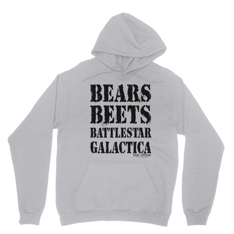 "THE OFFICE ""BEARS BEETS BATTLESTAR SAYING"" Classic Adult Hoodie"