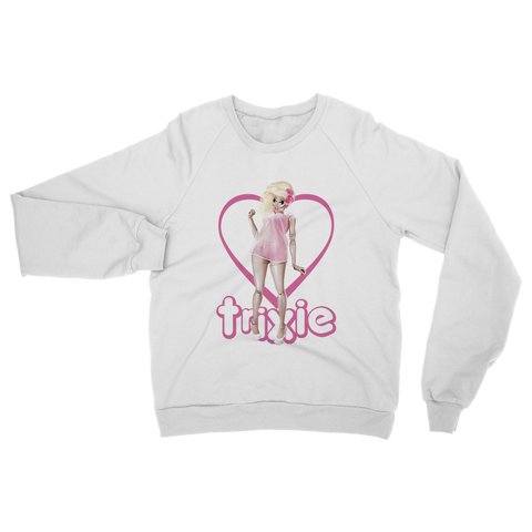 "UK LISTING - TRIXIE MATTEL ""LIVING DOLL"" Classic Adult Sweatshirt"
