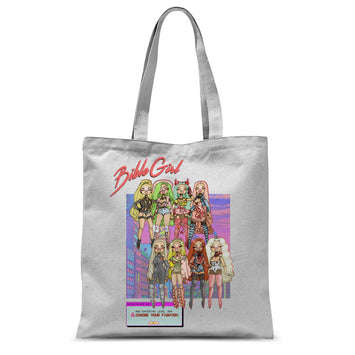 TOTE BAGS - UK LISTING - BIBLEGIRL CHOOSE UR FIGHTER SUBLIMATED TOTE BAG