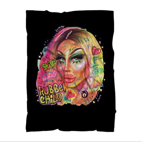 "RUBBER CHILD ""DRAGCON LA - 2018"" Sublimation Adult Blanket"