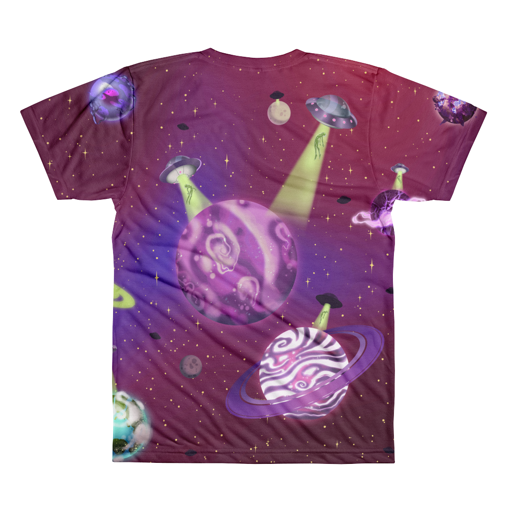 ALASKA IN SPACE SUBLIMATED T-SHIRT