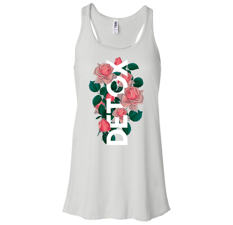 DETOX ROSES LADIES FLOWY TANK TOP