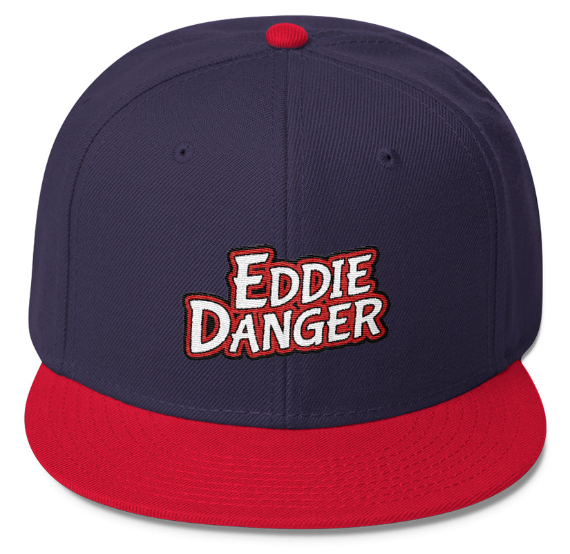 HEADWEAR - EDDIE DANGER RED / WHITE LOGO 1 SNAPBACK CAP